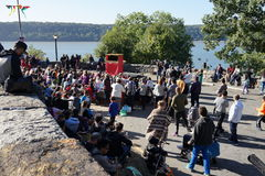 Το μεσαιωνικό φεστιβάλ του 2015 στο μέρος 2 50 πάρκων Tryon οχυρών Στοκ Εικόνα