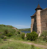 Το μεσαιωνικό φρούριο στο Hawtin στην Ουκρανία Στοκ εικόνες με δικαίωμα ελεύθερης χρήσης