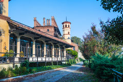 Το μεσαιωνικό χωριό στο Τορίνο, Ιταλία Στοκ εικόνα με δικαίωμα ελεύθερης χρήσης
