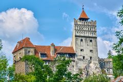 Το μεσαιωνικό Castle στο πίτουρο, φρούριο της Τρανσυλβανίας, Ρουμανία Dracula ` s Στοκ Εικόνα