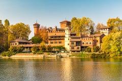 Το μεσαιωνικό Castle στο Τορίνο, Ιταλία Στοκ φωτογραφίες με δικαίωμα ελεύθερης χρήσης