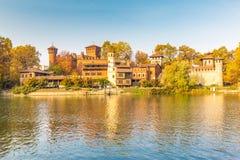 Το μεσαιωνικό Castle στο Τορίνο, Ιταλία Στοκ εικόνα με δικαίωμα ελεύθερης χρήσης