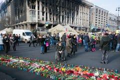 Το με ειδικές ανάγκες άτομο προσέχει πολλά λουλούδια Στοκ εικόνα με δικαίωμα ελεύθερης χρήσης
