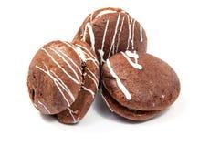 Το μελόψωμο με τη σοκολάτα isole επάνω Στοκ Εικόνες