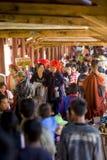 Το Μιανμάρ - φεστιβάλ σπηλιών Pindaya Στοκ Εικόνες