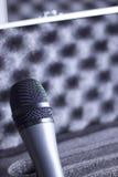 Το μικρόφωνο φωνής και φέρνει την περίπτωση Στοκ φωτογραφία με δικαίωμα ελεύθερης χρήσης