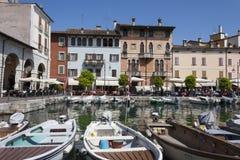 το μικρό λιμάνι του desenzano Στοκ Εικόνες