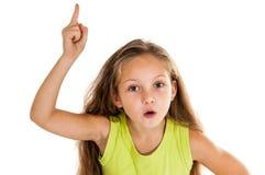 Το μικρό κορίτσι έχει μια ιδέα στοκ εικόνα