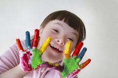 Το μικρό κορίτσι έχει τη διασκέδαση Στοκ Εικόνα
