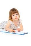 Το μικρό κορίτσι σύρει Στοκ φωτογραφία με δικαίωμα ελεύθερης χρήσης