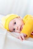 Το μικρό μωρό στην έννοια παιδικής ηλικίας στοκ εικόνα με δικαίωμα ελεύθερης χρήσης