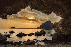 Το μικρό νησί Kalymnos στην Ελλάδα Στοκ εικόνα με δικαίωμα ελεύθερης χρήσης