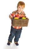 Το μικρό παιδί με τα παιχνίδια Στοκ Φωτογραφίες