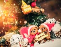Το μικρό παιχνίδι αντέχει στη ζωή Χριστουγέννων ακόμα Στοκ Φωτογραφία