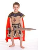 Το μικρό παιδί έντυσε ως ιππότης Στοκ εικόνες με δικαίωμα ελεύθερης χρήσης