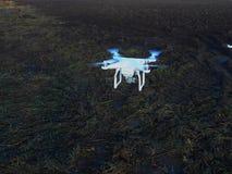 Το μικρό πετώντας ρομπότ quadrocopter Στοκ Εικόνα