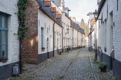 Το μικρό Beguinage στο Λουβαίν, Βέλγιο Στοκ Εικόνες