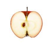 Το μισό φρούτων του μήλου που απομονώνεται στοκ φωτογραφία με δικαίωμα ελεύθερης χρήσης