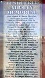 Το μνημείο αεροπόρων Tuskegee στέκεται στη βάση τομέων αέρα στρατού Walterboro στη νότια Καρολίνα, ΗΠΑ Στοκ εικόνες με δικαίωμα ελεύθερης χρήσης