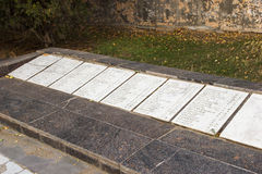 Το μνημείο είναι μαζική σοβαρή μεραρχία Πεζικού 45 Στοκ εικόνα με δικαίωμα ελεύθερης χρήσης