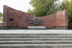 Το μνημείο είναι μαζική σοβαρή μεραρχία Πεζικού 45 Στοκ φωτογραφίες με δικαίωμα ελεύθερης χρήσης