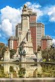 Το μνημείο Θερβάντες, ο πύργος της Μαδρίτης στη Μαδρίτη Στοκ Φωτογραφίες