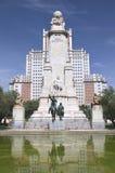 Το μνημείο Θερβάντες στη Μαδρίτη, Ισπανία Στοκ φωτογραφίες με δικαίωμα ελεύθερης χρήσης