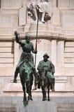 Το μνημείο Θερβάντες στη Μαδρίτη, Ισπανία Στοκ Εικόνα