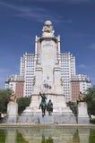 Το μνημείο Θερβάντες στη Μαδρίτη, Ισπανία Στοκ εικόνες με δικαίωμα ελεύθερης χρήσης