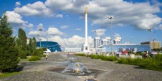 Το μνημείο Καζάκος Eli στην πόλη Astana Στοκ εικόνα με δικαίωμα ελεύθερης χρήσης
