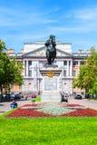 Το μνημείο στον αυτοκράτορα Μέγας Πέτρος μπροστά από το Castle του ST Michael, Άγιος-Πετρούπολη Στοκ εικόνα με δικαίωμα ελεύθερης χρήσης
