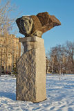 Το μνημείο στον ποιητή Αλέξανδρος Pushkin σπουδαίου Ρώσου που χαράζεται Στοκ Φωτογραφίες