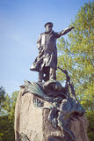 Το μνημείο στο ναύαρχο Makarov σε Kronstadt Στοκ Εικόνες