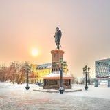 Το μνημείο στο ρωσικό αυτοκράτορα Αλέξανδρος το τρίτο Novosibirsk στοκ εικόνα