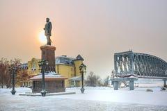 Το μνημείο στο ρωσικό αυτοκράτορα Αλέξανδρος το τρίτο Novosibirsk στοκ φωτογραφία με δικαίωμα ελεύθερης χρήσης