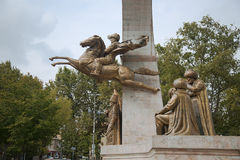 Το μνημείο στο σουλτάνο Mehmed ΙΙ Στοκ Εικόνα