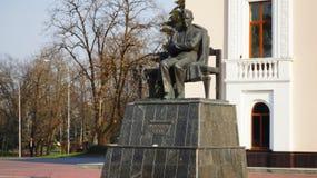 Το μνημείο στο συγγραφέα Ali Shogentsukov Kabardian Στοκ εικόνες με δικαίωμα ελεύθερης χρήσης