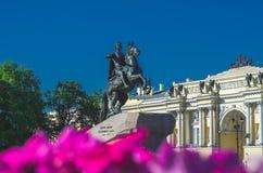 Το μνημείο στο Peter ο πρώτος ιππέας χαλκού Αγία Πετρούπολη Στοκ φωτογραφία με δικαίωμα ελεύθερης χρήσης