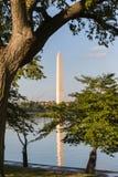 Το μνημείο της Ουάσιγκτον στη λεωφόρο και μια αντανάκλαση Στοκ φωτογραφία με δικαίωμα ελεύθερης χρήσης