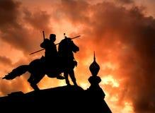 Το μνημείο του βασιλιά Naresuan ο μεγάλος ayutthaya Ταϊλάνδη Στοκ Φωτογραφίες