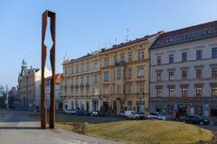 Το μνημείο του γενικού Γ S Patton Plzen Στοκ Εικόνα