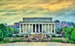 Το μνημείο του Λίνκολν, ένα αμερικανικό εθνικό μνημείο στην Ουάσιγκτον, Δ Γ Στοκ εικόνες με δικαίωμα ελεύθερης χρήσης