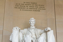 Το μνημείο του Λίνκολν στην Ουάσιγκτον Στοκ φωτογραφίες με δικαίωμα ελεύθερης χρήσης