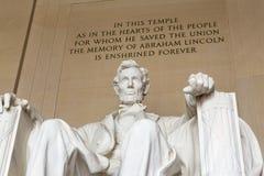 Το μνημείο του Λίνκολν στην Ουάσιγκτον Στοκ εικόνες με δικαίωμα ελεύθερης χρήσης