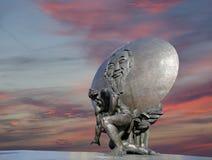 Το μνημείο του Ho Chi Minh (δημιουργήθηκε στις 18 Μαΐου του 1990) στη Μόσχα, Ρωσία Στοκ φωτογραφία με δικαίωμα ελεύθερης χρήσης