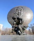Το μνημείο του Ho Chi Minh (δημιουργήθηκε στις 18 Μαΐου του 1990) στη Μόσχα, Ρωσία Στοκ εικόνα με δικαίωμα ελεύθερης χρήσης