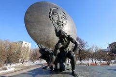 Το μνημείο του Ho Chi Minh (δημιουργήθηκε στις 18 Μαΐου του 1990) στη Μόσχα, Ρωσία Στοκ φωτογραφίες με δικαίωμα ελεύθερης χρήσης