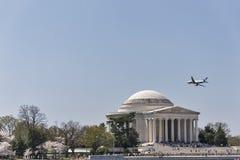 Το μνημείο του Jefferson στην Ουάσιγκτον, συνεχές ρεύμα Στοκ εικόνες με δικαίωμα ελεύθερης χρήσης