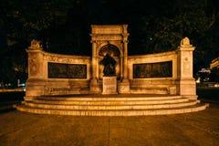 Το μνημείο Hannemann τη νύχτα, στο πάρκο κύκλων του Scott, σε Washin Στοκ φωτογραφίες με δικαίωμα ελεύθερης χρήσης