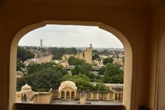 Το μνημείο Jantar Mantar στο Jaipur, Rajasthan στοκ φωτογραφίες με δικαίωμα ελεύθερης χρήσης